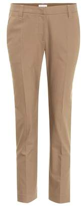 Brunello Cucinelli Mid-rise cotton twill trousers