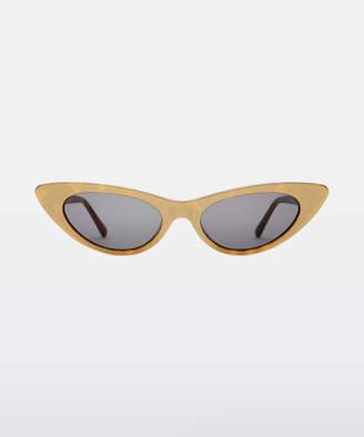 Crap Eyewear Ultra Jungle Gold Glitter & Tortoise Sunglasses