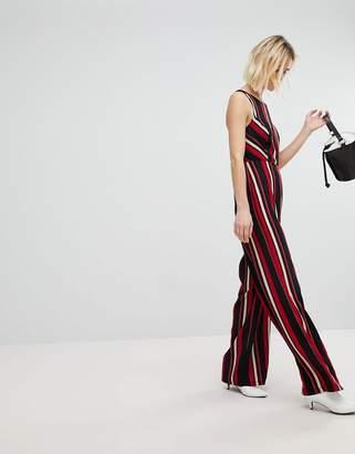 New Look Stripe Wide Leg Jumpsuit