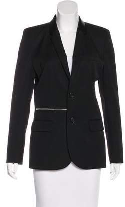 Barbara Bui Leather-Trimmed Wool Blazer