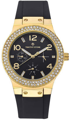 Timothy Stone Women's 'Facon' Sporty Chic Crystal Accented Silicone Strap Watch