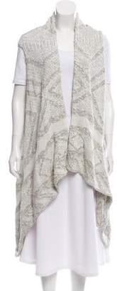 Line Bouclé Knit Vest