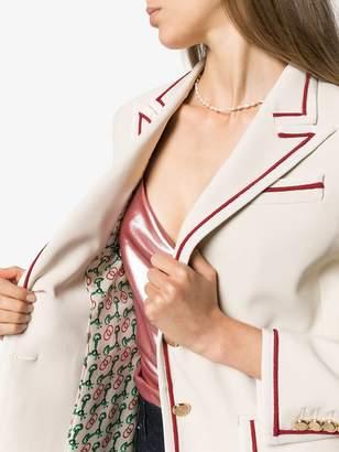 Gucci single-breasted piped blazer