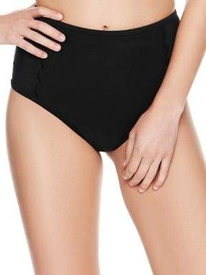 Betsey Johnson Malibu Hi-Waist Bikini Bottoms
