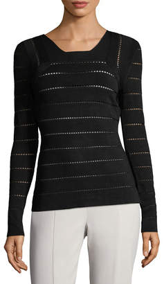Narciso Rodriguez Pointelle Stripe Sweater