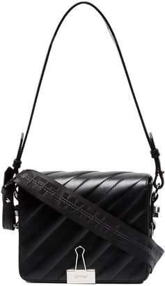 Off-White Black binder clip shoulder bag
