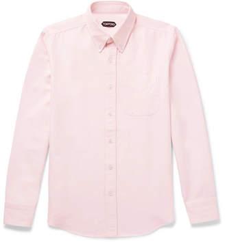 Tom Ford Button-Down Collar Cotton Oxford Shirt
