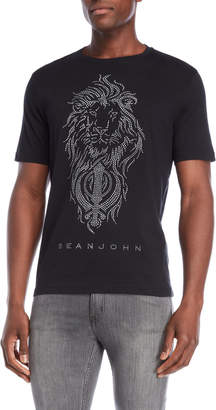 Sean John Studded Lion Tee