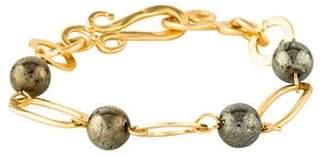 Stephanie Kantis Pyrite Navajo Bracelet