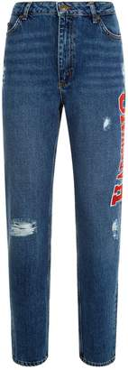 Sandro Embroidered Slim Fit Jeans