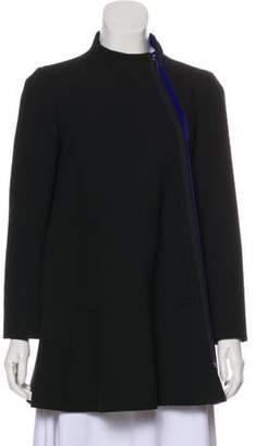 Armani Collezioni Asymmetrical Zip-Up Coat