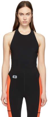 Alexander Wang Black Criss Cross Strap Bodysuit