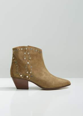 Isabel Marant Dacken Studded Suede Western Boots