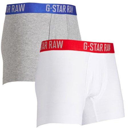 G Star G-Star Men's Classic Low 2 Pack Rise Trunk Underwear