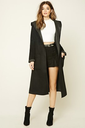 FOREVER 21+ Hooded Shawl Collar Coat $59.90 thestylecure.com