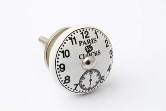 French Grey Interiors Ceramic Clock Face Cupboard Knob