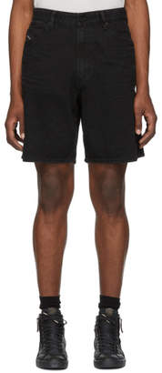 Diesel Black Denim Willoh Shorts