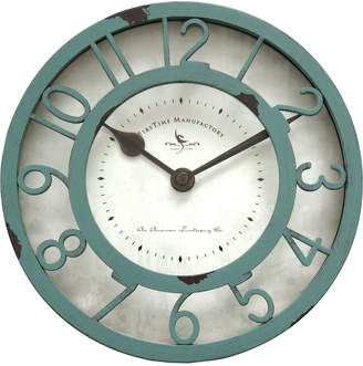 Co Firstime & Firstime & Firstime and Wall Clock with Chipped Sage Profile and Classic Neutral Dial