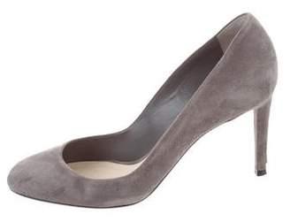 Christian Dior Suede Round-Toe Pumps