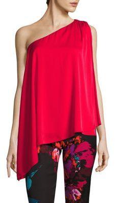 Trina Turk Nimah Silk One Shoulder Top