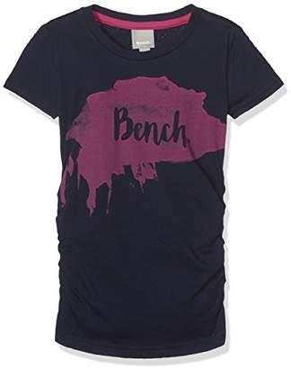 Bench Girl's Logo TEE T-Shirt, (Maritime Blue BL11213)