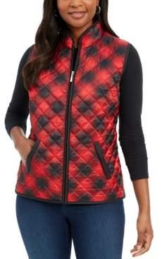 Karen Scott Plaid Puffer Vest, Created for Macy's