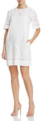 Theory Idetteah Eyelet Shift Dress $395 thestylecure.com