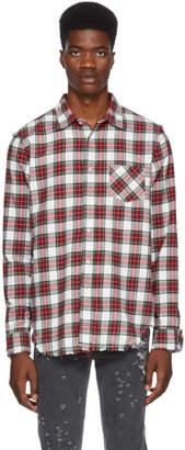 R 13 White Shredded Seams Shirt