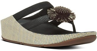FitFlop Women's Rosita Imi-Leather Toe-thong Sandals $47.95 thestylecure.com