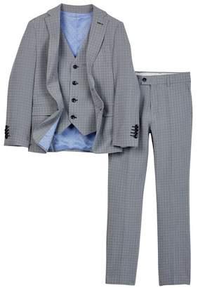 Isaac Mizrahi Textured 3-Piece Suit (Toddler, Little Boys, & Big Boys)