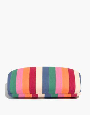 Madewell Multi-Stripe Sunglass Case