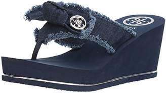 GUESS Women's SANTOS2 Wedge Sandal