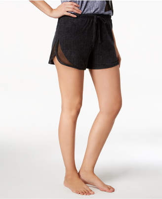 Lush Ande Luxe Mesh-Panel Pajama Shorts