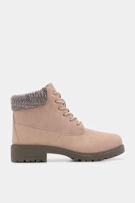 Ardene Faux Leather Combat Boots