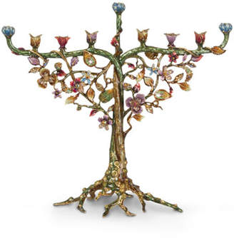 Jay Strongwater Floral and Vine Menorah