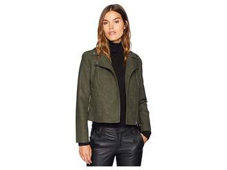 BB Dakota Easy Rider Faux Suede Moto Jacket