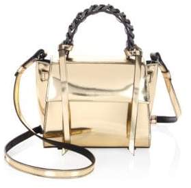 Elena Ghisellini Mini Angel Shine Metallic Leather Satchel