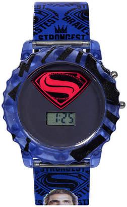 Victoria's Secret DC COMICS DC Comics Batman Superman LCD Rotating Flash Dial with Superman Strap Watch