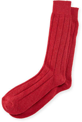 Neiman Marcus Men's Ribbed Cashmere Socks $55 thestylecure.com