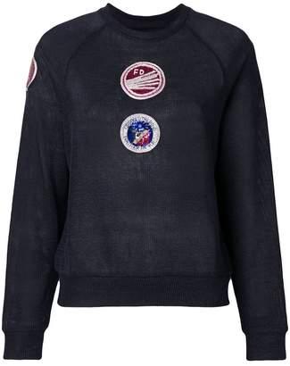 Mr & Mrs Italy patch embellished sweatshirt
