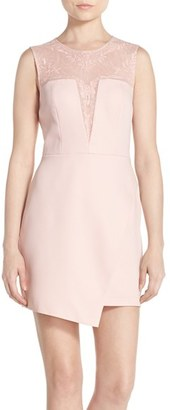 BCBGMAXAZRIA 'Kinsley' Embroidered Mesh & Satin A-Line Dress $368 thestylecure.com