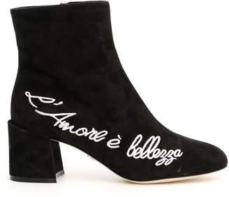 Dolce & Gabbana L'amore e Bellezza Suede Vally Boots