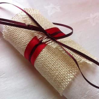 Baloolah Bunting Christmas Burlap Napkin Ring Table Decoration