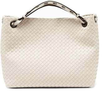 Bottega Veneta Garda Intrecciato Leather Tote - Womens - Light Grey