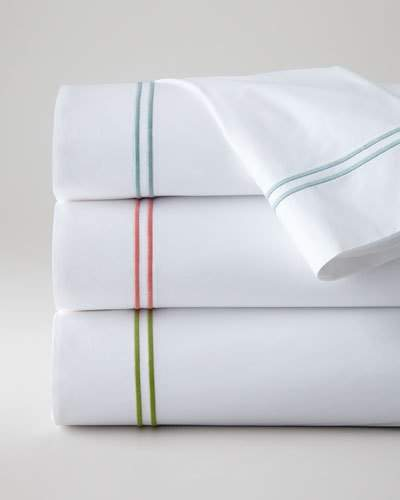 SFERRA Twin New Resort 200TC Solid White Fitted Sheet