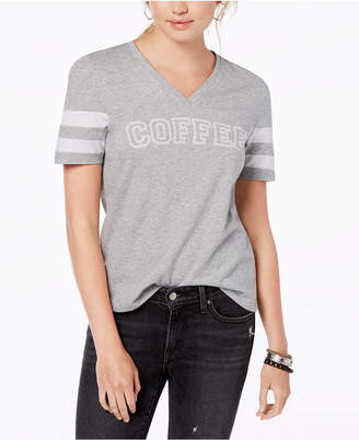 Rebellious One Juniors' Cotton Coffee Graphic-Print T-Shirt