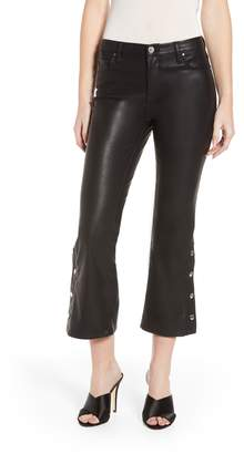 Blank NYC BLANKNYC Vegan Leather Snap Kick Flare Pants