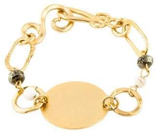 Stephanie Kantis Mother of Pearl & Pyrite Love Bracelet
