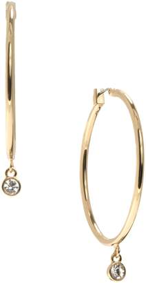 DKNY Clermont Crystal Hoop Drop Earrings