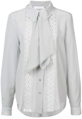 Chloé lace insert cravat blouse